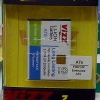 Trendy Baterai Vizz Evercoss A7s 2500mah - Double Power Batre Samsung