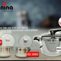 Panci Presto tanpa karet 8L nonnina 8 Liter by ISA Pressure cooker