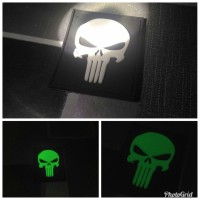 patch (pacth) rubber punisher hitam - patch velcro PVC