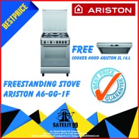 KOMPOR FREESTANDING ARISTON A6-GG-1FC FREE COOKER HOOD ARISTON