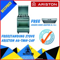 KOMPOR FREESTANDING ARISTON A6-TMH-2AF FREE COOKER HOOD ARISTON