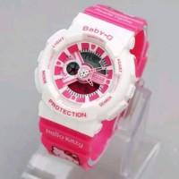 Casio G Shock Hello Kitty . Baby G HelloKitty Pink Merah muda. Jam tan