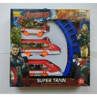 BRG-17000412 mainan anak super train set / kereta api + rel
