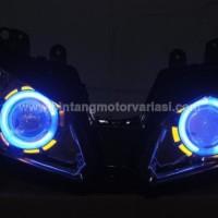 Headlamp Projie HID Ninja 250 FI ( Blue,Yellow) Original