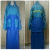 harga Wsn9 Jas Hujan Wanita Jaket Rok Salsa Model Rok Muslimah Biru Saja Tokopedia.com