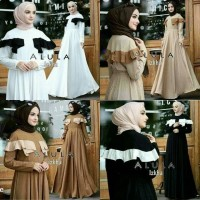 Best Buy Dress Putih Gamis Hitam Baju pesta Pakaian hijab Alula Dress