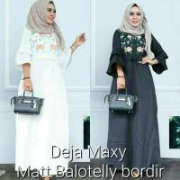 Sale Dress Putih Gamis Hitam Baju pesta Grosir pakaian Deja dress