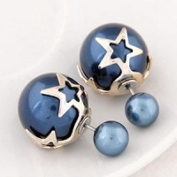 Anting Star Shape Blue KE37553 Berkualitas