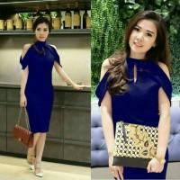 harga Dress Fashion Navy Pakaian Wanita Kekinian Dress Cewek Abg Terbaru Tokopedia.com