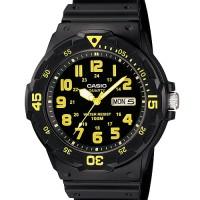 Harga jam tangan pria casio mrw 200h hitam kuning original garansi 1 | Pembandingharga.com