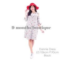 Baju Hamil Menyusui DANNIE DRESS BLACK / Baju Wanita Murah Modis Bagus
