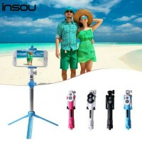 Bluetooth Selfie Stick Tongsis + Tripod + Remote Untuk Android IPhone