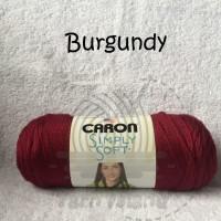 PROMO Caron Simply Soft warna Burgundy Benang Rajut Import terlaris p
