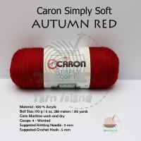 PROMO Caron Simply Soft warna Autumn Red Benang Rajut Import terlaris