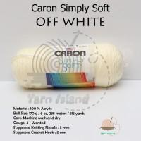 PROMO Caron Simply Soft Off White Benang Rajut Import terlaris penjua