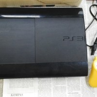PS 3 SUPER SLIM 500GB ANTI YLOD + KASET ORI 4 BIJI SIAP MAIN ONLINE BO