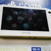 PS Vita Slim Lime-Green Fullset MULUS 99% + MEMORY 8 GB FULLGAMES
