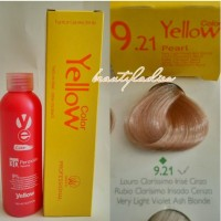 Yellow Hair Color 9.21 Very Light Violet Ash Blonde 100 ML