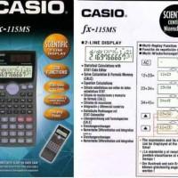 CASIO FX-115MS - Scientific Calculator / Kalkulator Ilmiah #ORIGINAL#
