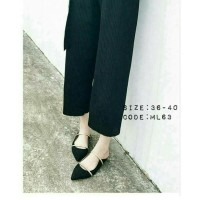 harga Sepatu Flats Shoes Ivory Adl 812 Hitam Tokopedia.com