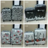 harga Tas Koper Travel Anak Dewasa Fiber 2 In 1 Set Luggage Bag Travel Tokopedia.com