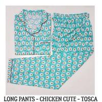 pajamas katun long pants chicken cute tosca