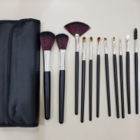 PAKET KUAS MAKE UP MAC 12 pcs ~ MAKEUP BRUSH SET ~ DOMPET MAC BRUSH