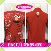 harga Kaos Baju Distro Anime/kartun - Elmo Full Red Spandex Tokopedia.com