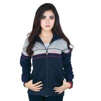 harga Jaket Kasual Wanita Br Ryi090 - Womens Sporty Jacket - Navy Katun Ddr Tokopedia.com