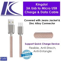 harga Kingdol Jeans Cover 3a Usb To Micro Usb Charge & Data Cable Pink Mc-jp Tokopedia.com