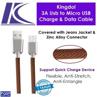 harga Kingdol Jeans Cover 3a Usb To Micro Usb Charge, Data Cable Brown Mc-jn Tokopedia.com