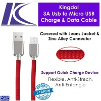 harga Kingdol Jeans Cover 3a Usb To Micro Usb Charge & Data Cable Red Mc-jr Tokopedia.com