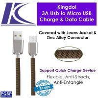 harga Kingdol Jeans Cover 3a Usb To Micro Usb Charge & Data Cable Grey Mc-je Tokopedia.com