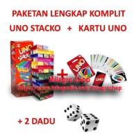 Harga paket uno stacko kartu uno card dadu 2 pcs paketan   Pembandingharga.com