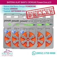 Baterai Alat Bantu Dengar Powerone 13 (Tipe Terbaru Mercury-Free)