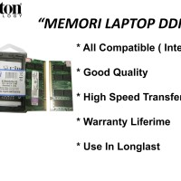 Memori Laptop DDR2 2GB KINGSTON pc2- 6400 Original