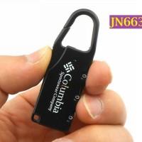 Gembok Metal Columbia Anti Maling Anti Kode Tiga Angka Kunci - JN663