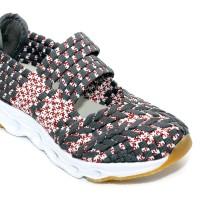 harga Sepatu Anak Flat Tikar Rajut Anyaman Ivory Iv301-b1 Grey Tokopedia.com