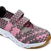 harga Sepatu Anak Flat Tikar Rajut Anyaman Ivory Iv301-b1 Fuchsia Tokopedia.com
