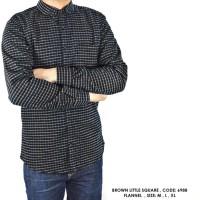 harga Kemeja Panjang Flanel Flannel Planel Kotak Kecil Putih Hitam Cowok  Tokopedia.com