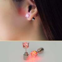 Anting Korea LED luminous flash zircon earrings