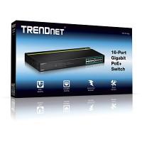 Trendnet Switch 16 port Gigabit POE TPE TG160G