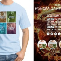 Harga kaos hunger games quote 03 tshirt oblong baju distro | WIKIPRICE INDONESIA