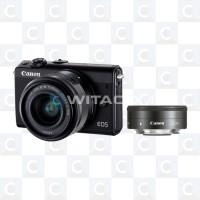 Canon EOS M100 double Kit 15-45mm + 22mm - Black