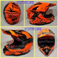 harga Helm Gm Super Cross Se Moto 1 Orange Fluorecent Black Tokopedia.com