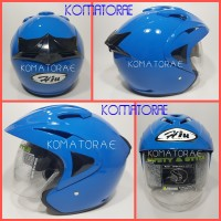 harga Helm Hiu Arrow Blue Mild Half Face Double Visor Tokopedia.com