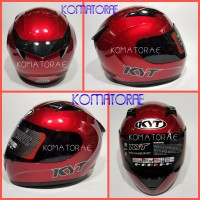 HELM KYT R10 SOLID RED MAROON FULL FACE