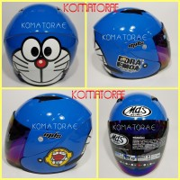 harga Helm Mds Sport R3 Ltd Doraemon Smiley Blue White Tokopedia.com