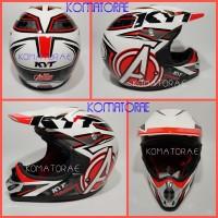 harga Helm Kyt Cross Pro Avenger White Red Fluo Trail Tokopedia.com