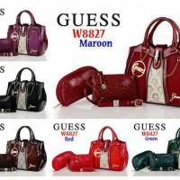 Handbag Cewek Wanita Guess #tas grosir W8827 3IN1 dompet